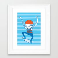 skate Framed Art Prints featuring Skate by Devin Soisson