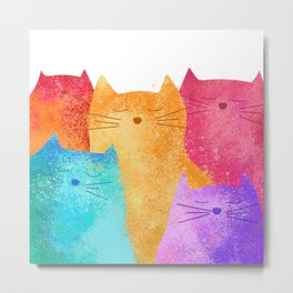 Rainbow cats Metal Print