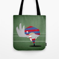 rugby Tote Bags featuring Rugby by Osvaldo Casanova