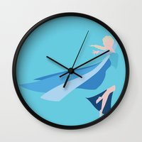 frozen elsa Wall Clocks featuring Frozen - Elsa by TracingHorses