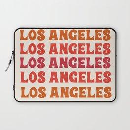 Los Angeles - retro vibes throwback minimal typography 70s colors 1970's LA Laptop Sleeve