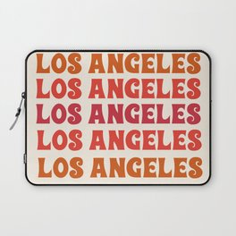 Los Angeles - retro vibes throwback minimal typography 70s colors 1970's LA Laptop Sleeve