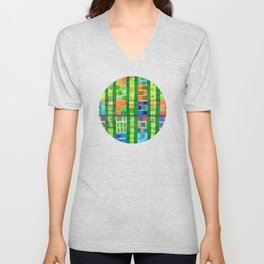 Colored Fields With Bamboo Unisex V-Neck