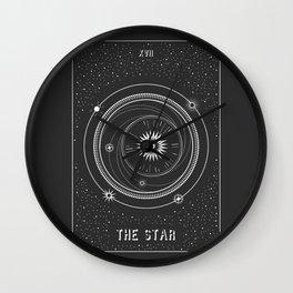 Minimal Tarot  Deck The Star Wall Clock