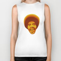 70s Biker Tanks featuring 70s style Disco Afro by D-fens
