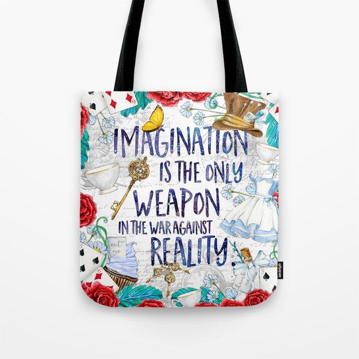 Alice in Wonderland - Imagination Tote Bag