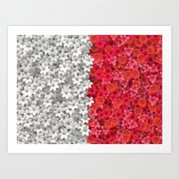 Boundary Flowers Art Print