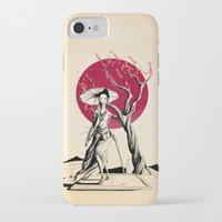 geisha iPhone & iPod Cases featuring Geisha by Rafapasta