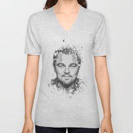 Leonardo DiCaprio splatter painting Unisex V-Neck