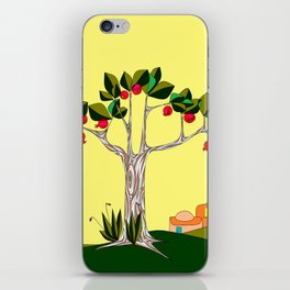 A Pomegranate Tree in Israel in the Day iPhone Skin