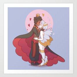 Aon and Chloe Art Print