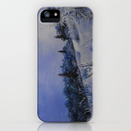 winter first comes in the mountain  iPhone Case