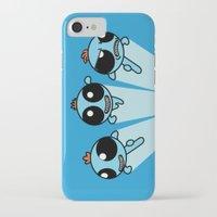 powerpuff girls iPhone & iPod Cases featuring Powerpuff Meeseeks by BovaArt