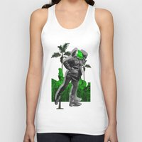 moscow Tank Tops featuring Moscow Jungles by Tate Bacalao