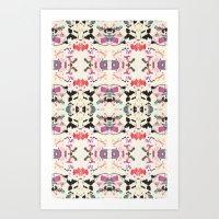 rorschach Art Prints featuring Rorschach by Zephyr