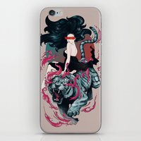 beauty and the beast iPhone & iPod Skins featuring Beauty and the Beast by Artemple