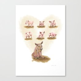 Free range piggies Canvas Print