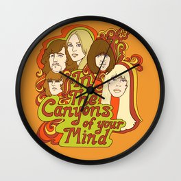 In The Canyons of Your Mind Wall Clock