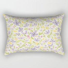 Floral watercolor purple pattern 6 Rectangular Pillow