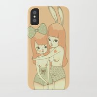 bunnies iPhone & iPod Cases featuring Bunnies by Mel Stringer
