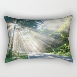 Forest Road Rectangular Pillow