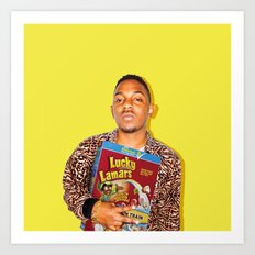 Lucky Lamars | Rappers and Cereal Art Print