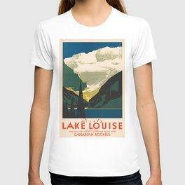 Lovely Lake Louise vintage travel ad T-shirt