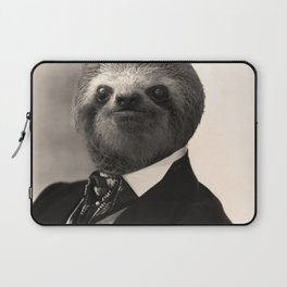 Gentleman Sloth with Authoritative Look Laptop Sleeve