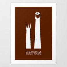 The Lord of the Rings: Two Towers Minimalist Art Print