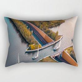 Social distancing boats Rectangular Pillow