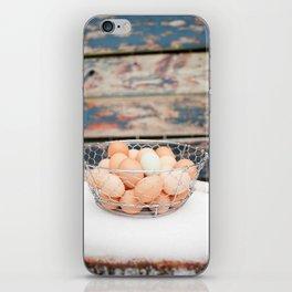 Rustic Snow Eggs iPhone Skin