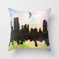 new york Throw Pillows featuring new York  new York  by mark ashkenazi