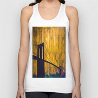 brooklyn bridge Tank Tops featuring Brooklyn Bridge by KINGCHANCE