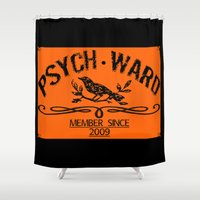psych Shower Curtains featuring Psych Ward Member by ImpART by Torg