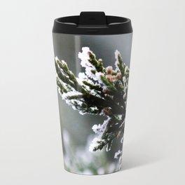 Pine Tree Covered with Snow Travel Mug