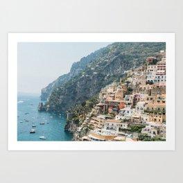 Positano Cliffs Art Print