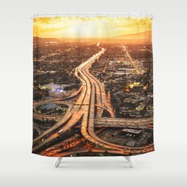 junction in los angeles Shower Curtain