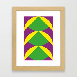 Of course those are Green Beans coming out from Yellow Shells. Happening in a Purple River. Framed Art Print