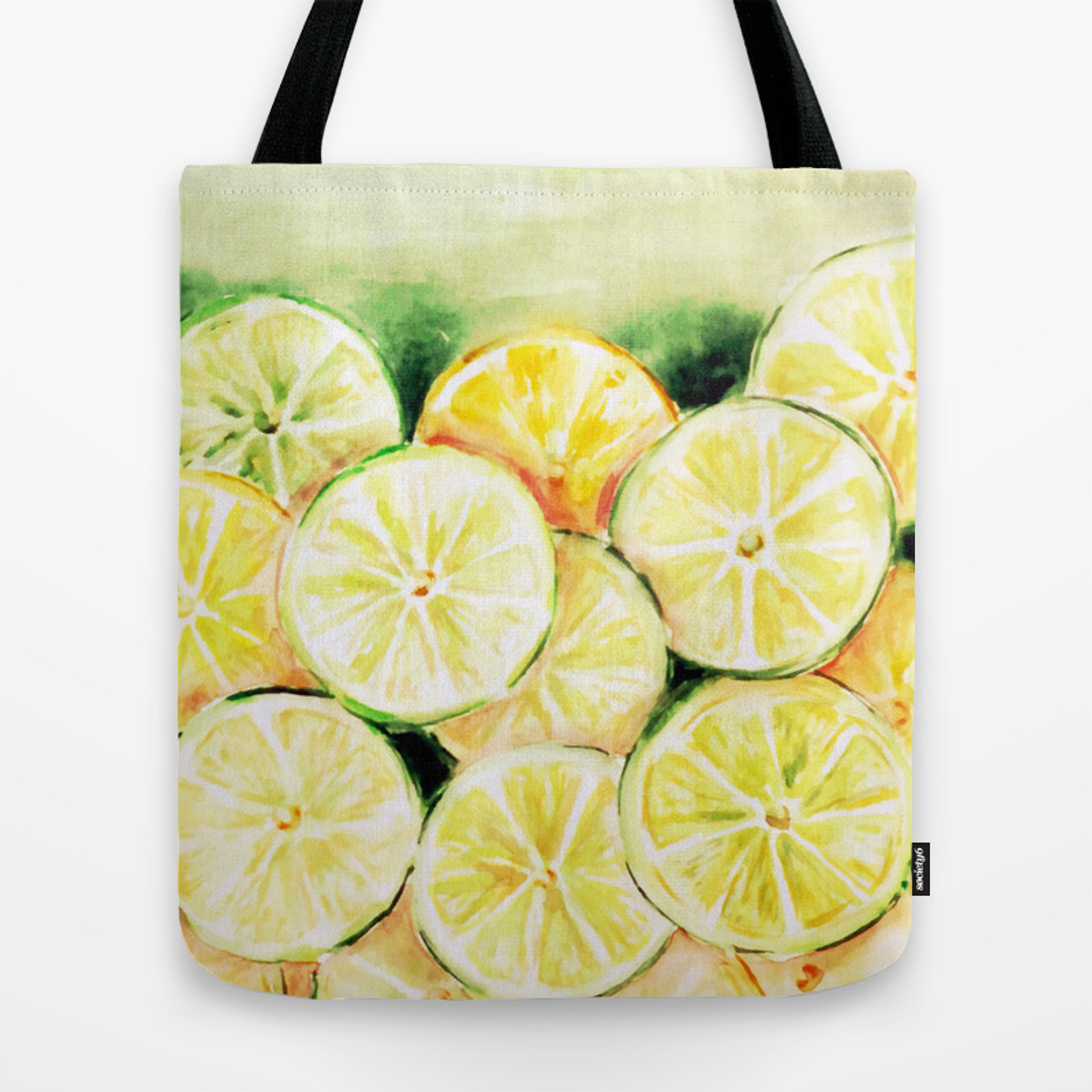 Limes and lemons Tote Bag by adrianamijaiche