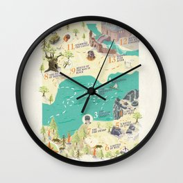 Princess Bride Discovery Map Wall Clock