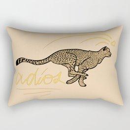 ADIOS CHEETAH modern graphic design Rectangular Pillow
