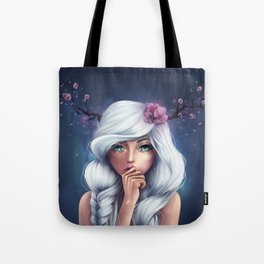 White-haired Girl Tote Bag