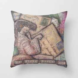 The Lover's Letter Box Throw Pillow