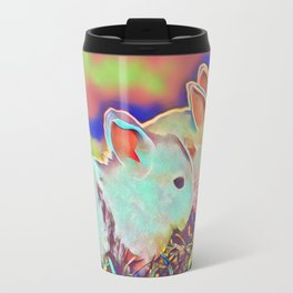 Day Time Dwarf Bunnies Travel Mug