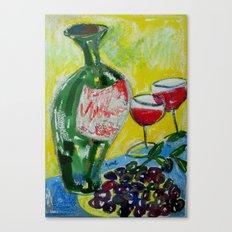 Olives & Wine Canvas Print
