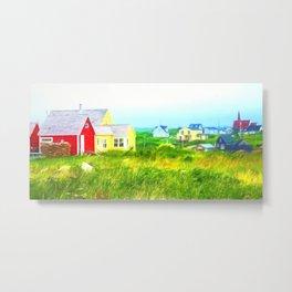 Peggy's Cove village in Nova Scotia, Canada Metal Print