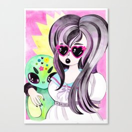 Alice and the Human Girl Canvas Print