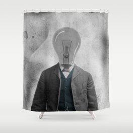 Light Bulb Bob Shower Curtain