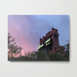 Sunset over Tower Metal Print