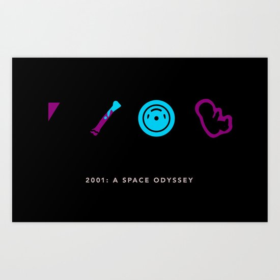 2001: A Space Odyssey, Four Icon Challenge Art Print